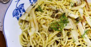 spaghetti vegani: finocchi e limone