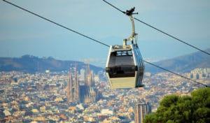 La funivia urbana di Barcellona