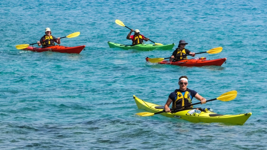 attività sportiva in mare