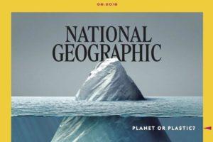Nationa Geographic: un iceberg di plastica nella copertina del giugno 2018